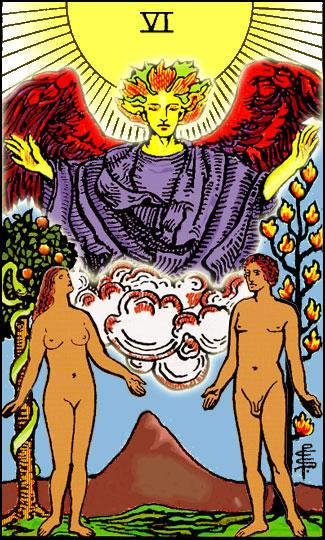 Tarotkarte-06-Lovers