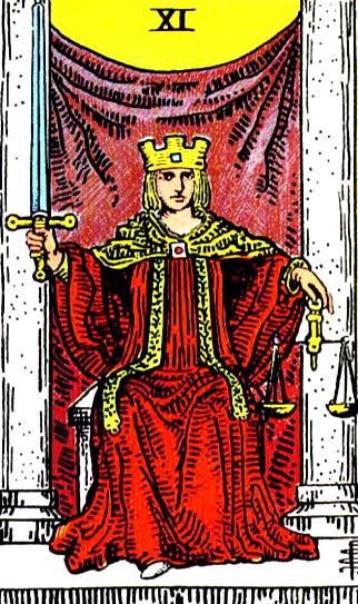 Tarotkarte-11-Justice