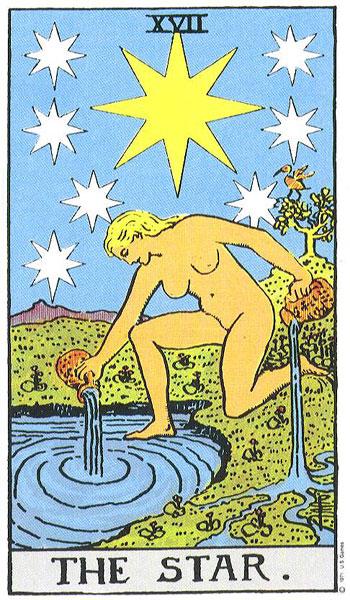 Tarotkarte-17-Star